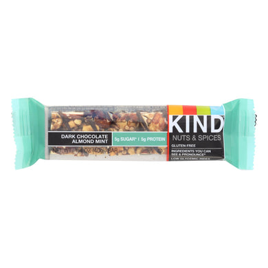 Dark Chocolate Almond Mint Bar - Pack of 12 1.4-oz bars
