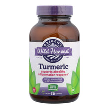Load image into Gallery viewer, Oregon's Wild Harvest Turmeric Herbal Supplement  - 1 Each - 120 Vcap