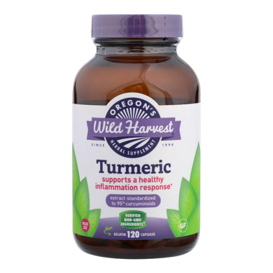 Oregon's Wild Harvest Turmeric Herbal Supplement  - 1 Each - 120 Vcap