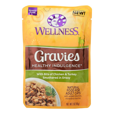 Grain Free Wet Cat Food, Chicken and Turkey Gravy - Pack of 24 3-oz packages