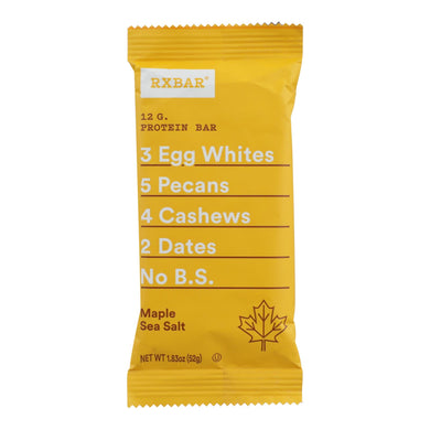 Protein Bars, Maple Sea Salt - Pack of 12 1.83-oz bars