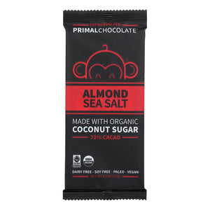 Paleo Chocolate Bar, Almond Sea Salt - Pack of 8 2.5-oz bars