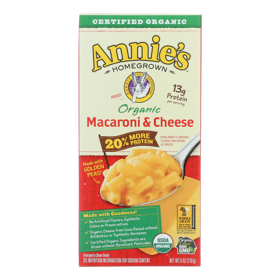 Annie's Homegrown Organic Macaroni & Cheese - Case Of 12 - 6 Oz