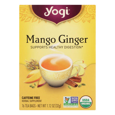 Yogi Tea - Organic - Mango Ginger - Case Of 6 - 16 Bag