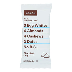 Protein Bars, Chocolate Chip - Pack of 12 1.83-oz bars