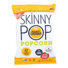 Load image into Gallery viewer, Skinnypop Popcorn Popcorn - Aged White Cheddar - Case Of 12 - 4.4 Oz