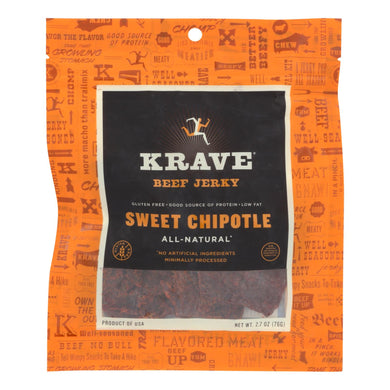 Beef Jerky, Sweet Chipotle - Pack of 8 2.7-oz bags