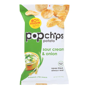 Popchips Potato Chip - Sour Cream - Onion - Case Of 12 - 5 Oz