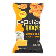 Load image into Gallery viewer, Popchips Potato Chip - Ridges - Cheddar - Sour Cream - Case Of 12 - 5 Oz