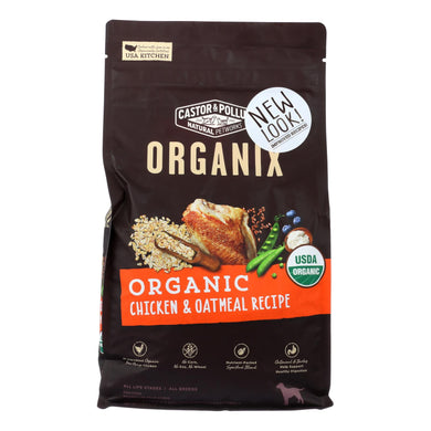 Castor And Pollux - Organix Dry Dog Food - Chicken And Oatmeal Recipe - Case Of 5 - 4 Lb.