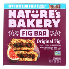 Load image into Gallery viewer, Nature's Bakery Stone Ground Whole Wheat Fig Bar - Original - Case Of 6 - 2 Oz.
