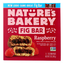 Load image into Gallery viewer, Nature's Bakery Stone Ground Whole Wheat Fig Bar - Raspberry - 2 Oz - Case Of 6