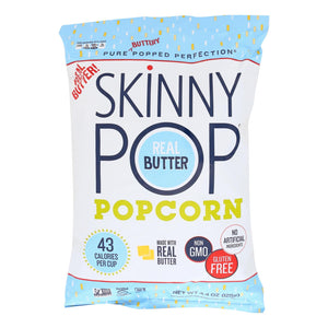 Skinnypop Popcorn Popcorn - Real Butter - Case Of 12 - 4.4 Oz