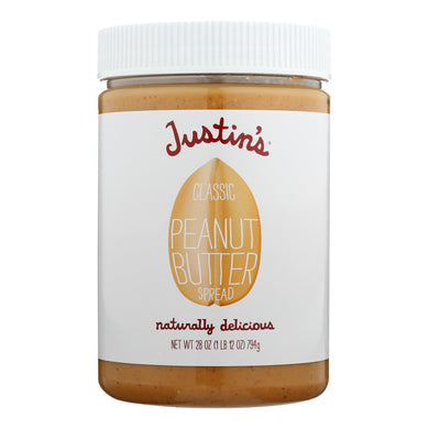 Justin's Nut Butter Peanut Butter - Classic - Case Of 6 - 28 Oz.