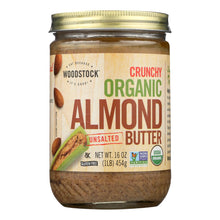 Load image into Gallery viewer, Woodstock Organic Almond Butter - Crunchy - Unsalted - 16 Oz.