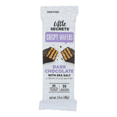 Crispy Wafers, Dark Chocolate with Sea Salt - Box of 12 1.4-oz packs