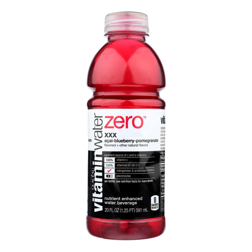 Glaceau Vitaminwater Zero Xxx Acai Blueberry Pomegranate Nutrient-enhanced Water - Case Of 12 - 20 Fz