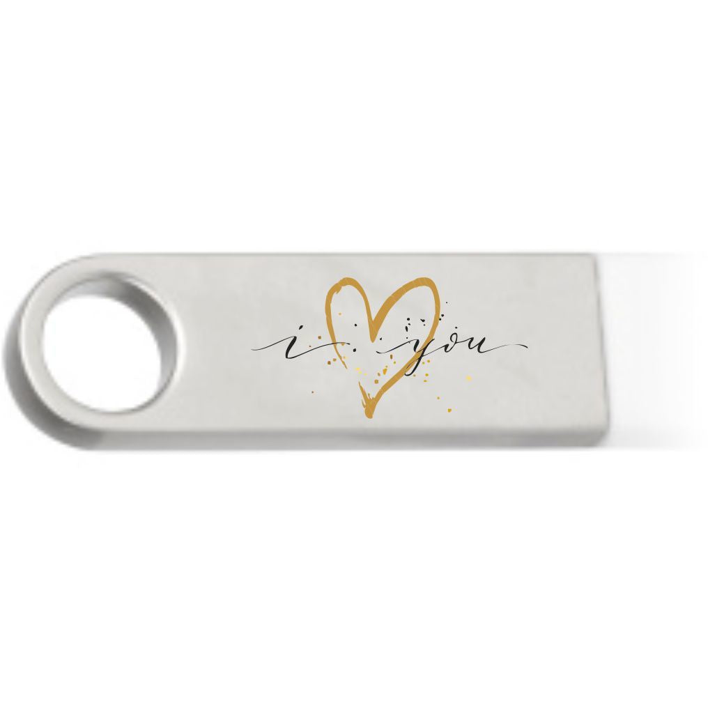 I love you egyedi pendrive konfettivel