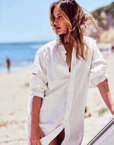 Bohemian Long Button Down	Shirt