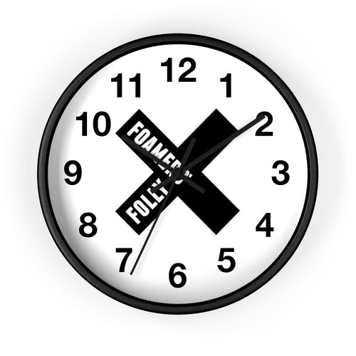 Foamers' Folly X Wall clock