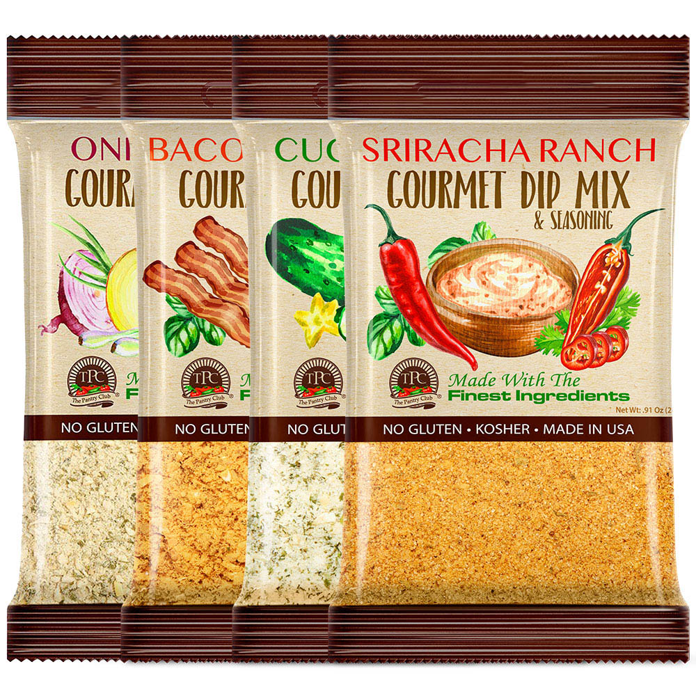 4 PACK - GOURMET DIP MIXES