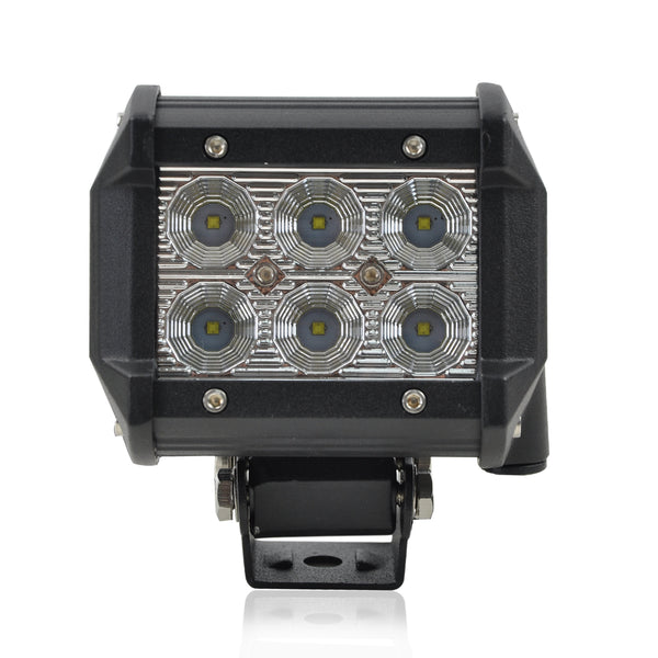18W OffRoad Spot LED Fog Work Lights Driving Lamps For ATV SUV UTE Jeep