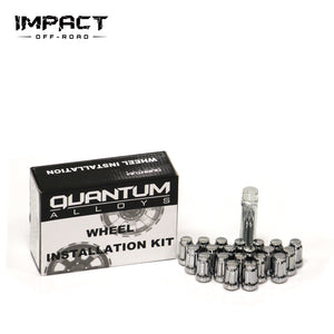 Impact Off Road Closed End Bulge Acorn Wheel Lug Nuts Conical Seat with 1 Key