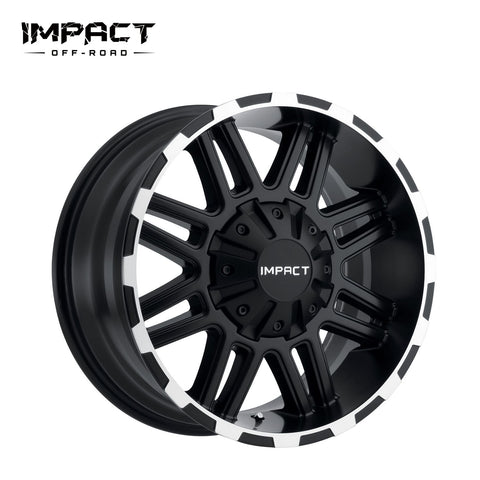 Impact Off Road Rims Wheels Interceptor Black Machine Edge