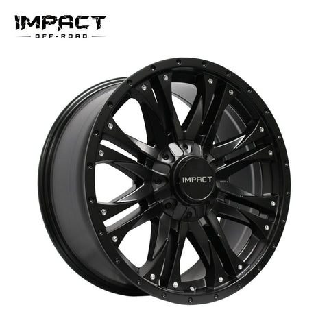Impact Off Road Rims Wheels Raider Satin Black