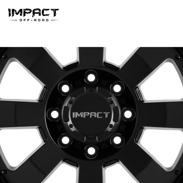 Impact Off Road Rims Wheels Destroyer Black Machine Edge