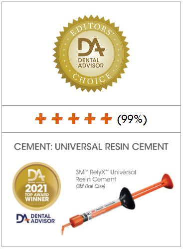 Dental Advisor RelyX Universal Resin Cement 2021 Editors Choice Award