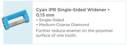 Cyan IPR Plus Single-Sided Widener 0.12mm