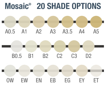 Ultradent Mosaic Shade Options