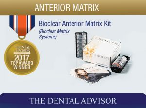 Bioclear Anterior Matrix Kit 2017 Dental Advisor Award