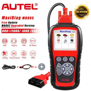 Autel MaxiDiag MD805 Full System Support OLS/EPB/transmission/Airbag +CAN OBDII better than Autel MD802