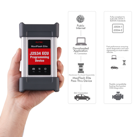 Image of Autel MaxiFlash Elite J2534 ECU Programming Tool Fit for Maxisys MS908/MS908P/MK908 Pro