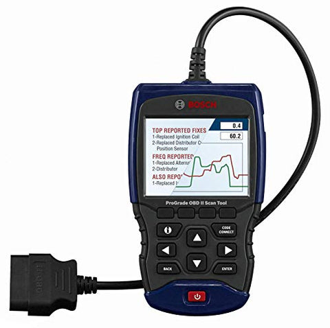 Bosch Automotive Tools OBD 1350 ProGrade OBD II Scan Tool with Brake System Resets, Enhanced Powertrain and ABS Datastream