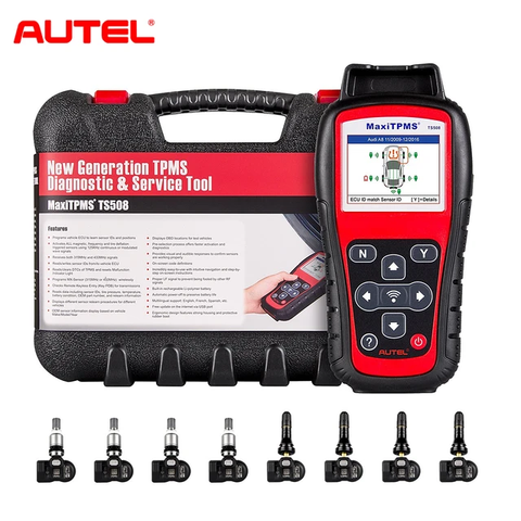 Image of Autel MaxiTPMS TS508K TS508 Pre TPMS Tool Winter Snow Tire All Season Tires Summer Tyre Replacement with 8pc Sensors