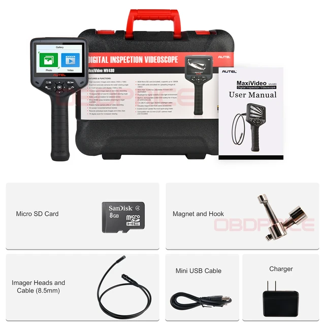 Autel Maxivideo MV480 Dual-camera Digital Videoscope Inspection Camera Endoscope 8.5mm Image Head