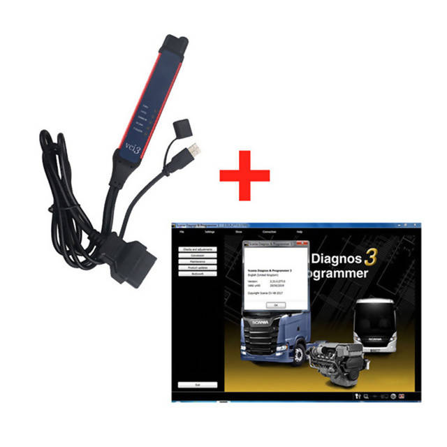 V2.38 Scania VCI-3 VCI3 Scanner Wifi Diagnostic Tool For Scania Truck Support Multi-language Win7/Win10