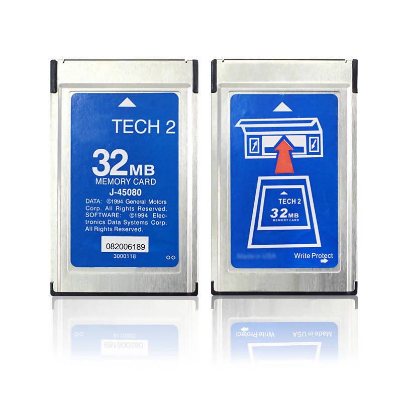For GM Tech 2 32MB Card for 6 Software GM/SAAB/Opel/Isuzu/Holden/Suzuki Memory Card Car Diagnostic tool