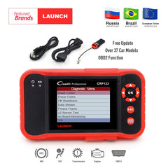 Launch X431 CRP123 obd2 code reader Scanner test Engine/ABS/SRS/AT X-431 CRP 123 Auto Diagnostic Tool free update creader vii+
