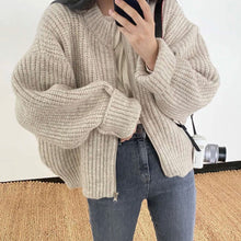 Load image into Gallery viewer, Ribbed Zip Up Cardigan