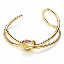 Load image into Gallery viewer, Liah Gold Thin Knot Bracelet