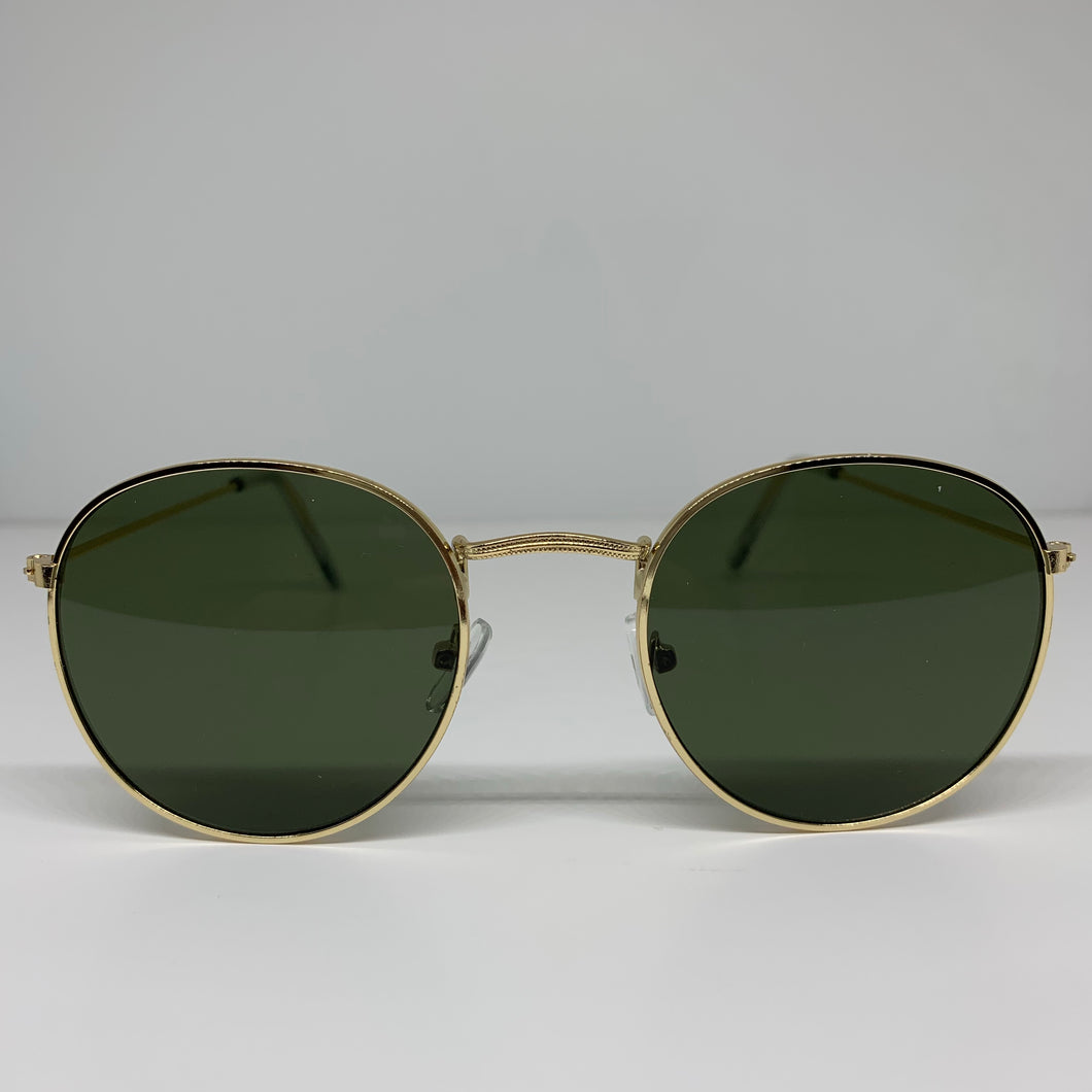 River Round Gold Frame Sunglasses
