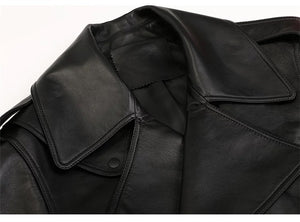 Black Cropped Faux Leather Jacket