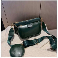 Load image into Gallery viewer, Dark Green Multi Pouch Bag