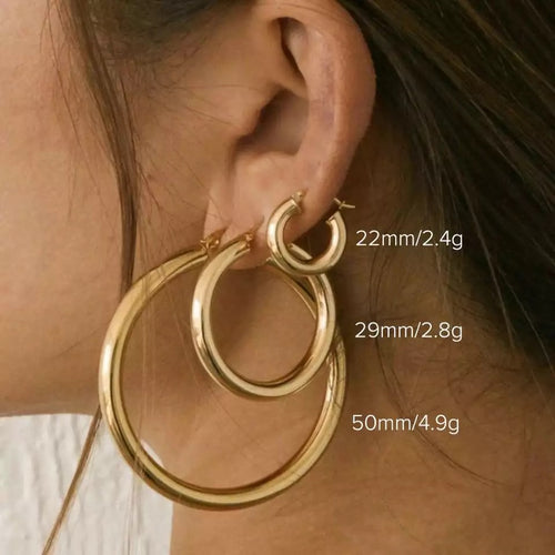 Pepper Gold Hoops