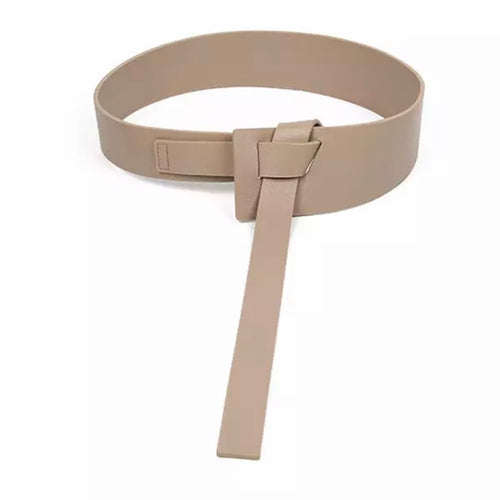 Faux Leather Knot Belt