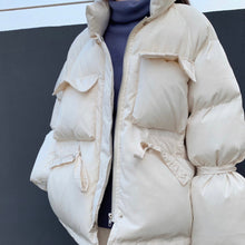 Load image into Gallery viewer, Tie Waist Puffa Coat